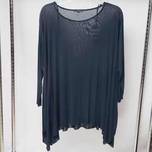 COS Fine Mesh Blouse With Ruffles